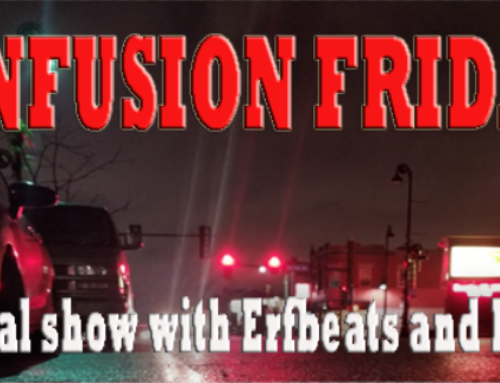 INFUSION FRIDAY on The Veltway tonight 8p-9p. Proceeds to benefit Friendly Tap Bar employees
